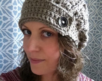 Tab front slouch hat