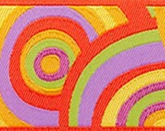 Kaffe Fassett Target Ribbon for Renaissance Ribbons  kf-11/22mm woven jacquard ribbons