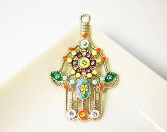 Ahimsa hand pendant,ahimsa,mala pendant,pendant,jewelry supplies,charms,DIY,ahimsa charm,mala charm,peace pendant,necklace pendant,jain