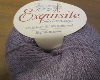 Exquisite by Fiddlesticks Knitting - silk and merino wool