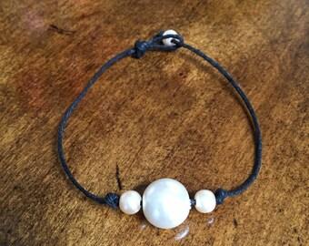 Pearl and Hemp Bracelet