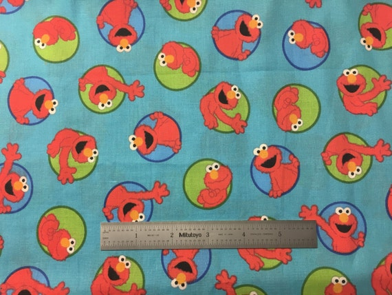 Elmo Fabric By The Half Yard 45 Quot Wide 100 Cotton From