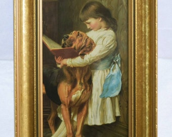 GORGEOUS Vintage Pears Soap Advert, Charles Burton Barber 'Naughty Boy', In BEAUTIFUL Gilt Frame - Fantastic Condition For It's Age