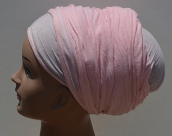 Lovely Light Pink Stretches Headscarf Wide Headwrap Pink Tichel Jewish Pink Headcovering Pink Hair Wrap Pink Turban Women Headscarves  Chemo