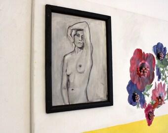 Assemblage Art ~ Mixed Media Collage Art Original ~ Experimental Art by KunstinQ (Flower Portrait)