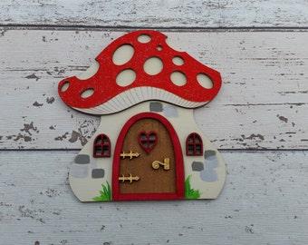 Fairy Door Elf Door Red Toadstool Beautiful Handmade Various options
