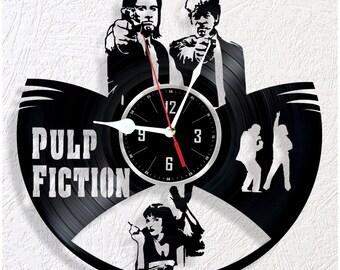 Vinyl wall clock Pulp Fiction