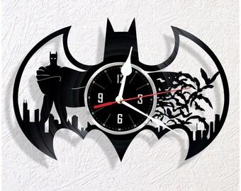 Vinyl wall clock Batman