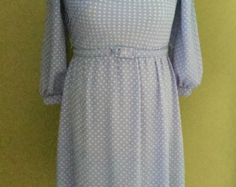 Vintage Periwinkle Lady Carol of NY Petites Day Dress