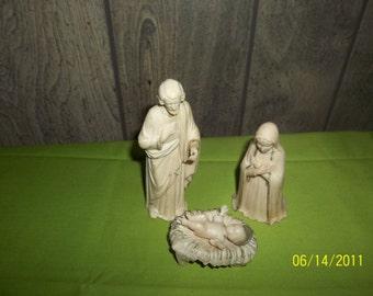 vintage nativity scene