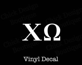 Chi Omega Greek Alphabet Letters Vinyl Decal