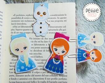 Set BookMarks & PaperClip Frozen • Segnalibri Magnetici E Graffette  Frozen