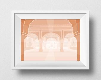 Orange Morocco Illustration