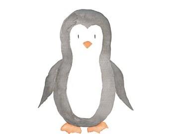 Penguin Water Color Print