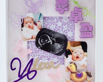 Keepsake Picture Frame with an origami touch (can be personalised)