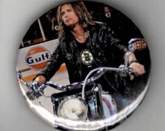"ONE OF A KIND Rocker Steven Tyler 2 1/4"" Button - Aerosmith"