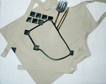 Mens Full Apron, Kitchen Apron, Barbeque Apron