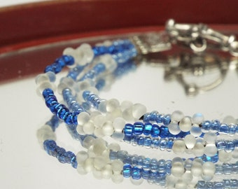 Bluebells - multi strand stacking bracelet