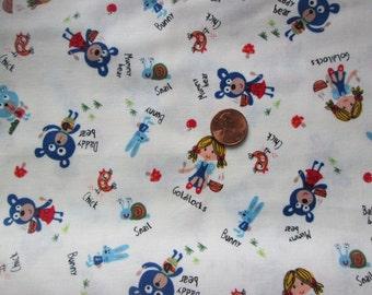 Yardage-Michael Miller's Baby Bear in Cream-Goldilocks fabric