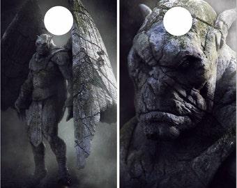 Monster Gargoyle LAMINATED Cornhole Wrap Bag Toss Decal Baggo Skin Sticker Wraps