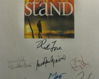 The Stand Signed TV mini series Script Screenplay X11 Autographs Stephen King Gary Sinise Molly Ringwald Rob Lowe Jamey Sheridan Ruby Dee