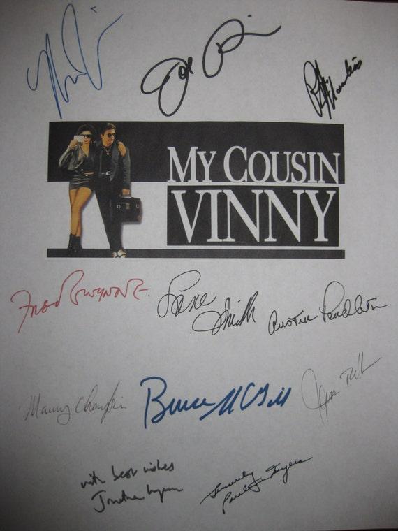 My Cousin Vinny Signed Film Movie Screenplay Script X11 Autograph Joe Pesci Marisa Tomei Ralph Macchio Fred Gwynne Jonathan Lynn Lane Smith
