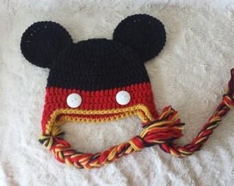 Crochet Micky Mouse Hat