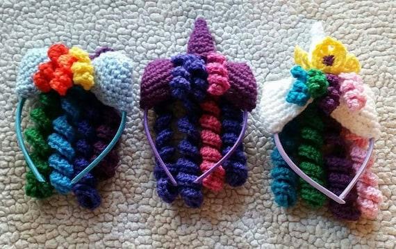 Crochet My Little Pony Headbands, MLP headbands, girls headbands, gift ...