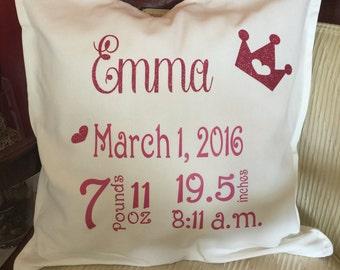 Birth Certificate Pillow