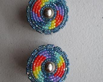Native American Beaded Earrings, by A.BlackOwl {Southern Cheyenne}