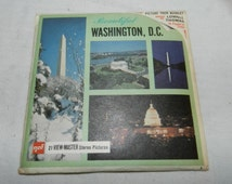 Vintage GAF 21 View-Master Stereo Pictures set - Beautiful Washington, D.C. with envelopes and Booklet                                  27-1