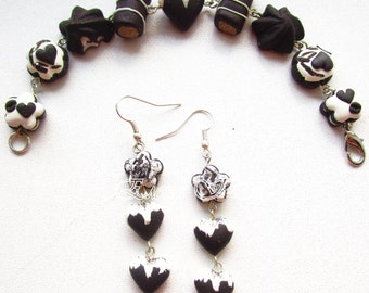 Jewelry set «Chocolate dessert»