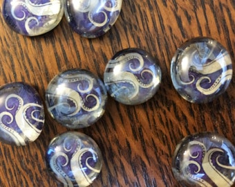 Eldritch Tentacle Tokens -- 20 Glass Pieces for HP Lovecraft games