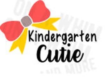 Kindergarten Cutie SVG Back to school, kindergarten, school days SVG file DIGITAL image only