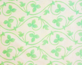 Moda Fabrics / Quilting Fabric / Cotton Fabric / Fig Tree & Co. / Tapestry / Leaves and Vines / Off White Light Green / Half Metre
