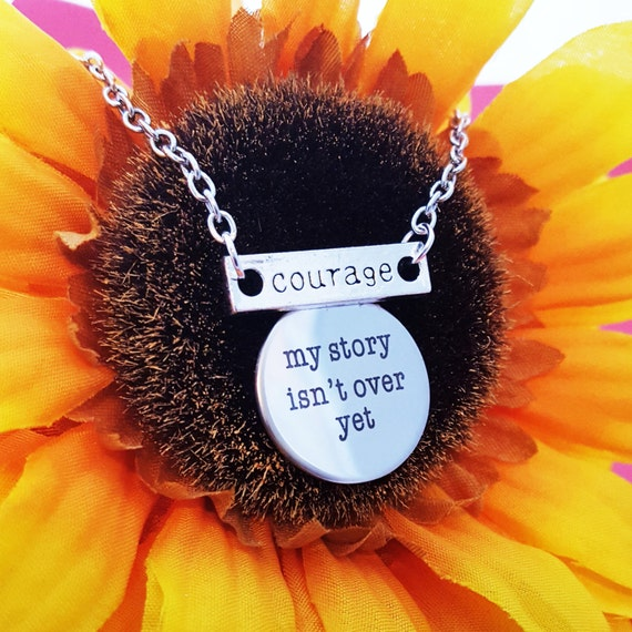 Semicolon Project Jewelry, Suicide Prevention Logo, My Story Isn't Over Yet, Courage Charm Necklace, Christian Jewelry, Inspirational Gifts