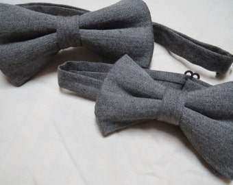 Father and Son grey bowtie