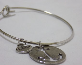 Believe Anchor Bracelet