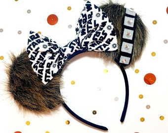 Disney inspired chewbacca Star Wars Minnie Mouse ears