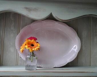 J&G Meakin Rosa~Rosa Sol J and G Meakin~Meakin pink platter~Rosa Sol Meakin~vintage platter~pink platter~vintage~rosa~vintage J and G Meakin