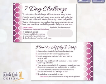 AU NZ / 7 Day Challenge / Sample Card / Customised / Nail Wrap / DIGITAL File / Printable Stationery / Sized for Australia & New Zeala