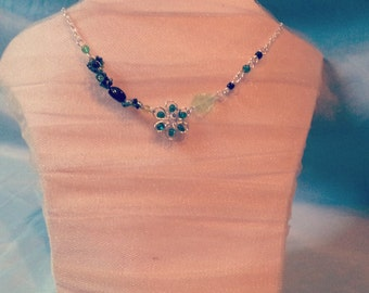 Beaded Green/Black Necklace