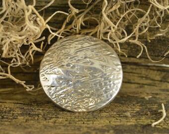 Circular Lightning Pin / Brooch Sterling Silver 13.6g Vintage Estate