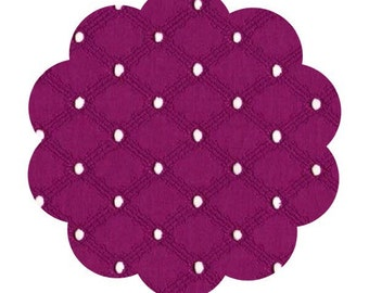 Fuchsia eyelet cotton fabric. Eyelet apparel cotton fabric. Embroider cotton fabric. DIY sewing apparel cotton fabric. Dresses/skirts fabric