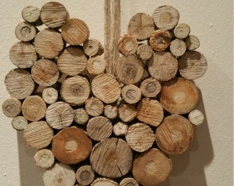 Driftwood Rustic Wooden Valentines Heart Shabby Chic