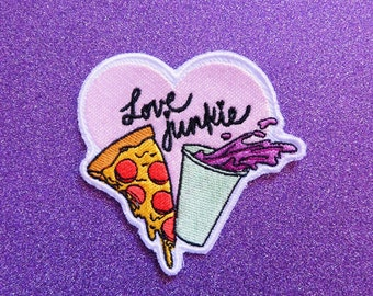 Pizza-Soda Love Junkie Patch
