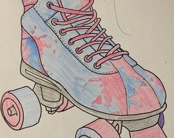 Princess Aurora Roller/Derby Skates
