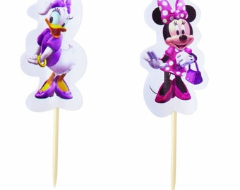 Disney Minnie Mouse Cupcake Toppers by Wilton, 24 Toppers per Package