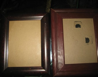 Two Wood/Brown Photo Picture Frames