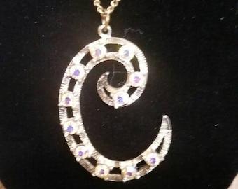 Big C pendant necklace